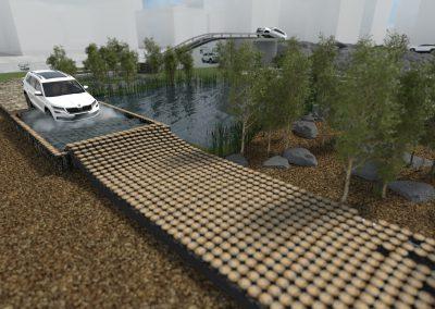 wizualizacja koncepcji budowy toru na event Skody Kodiaq