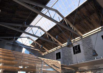 wizualizacja wnętrza typu loft