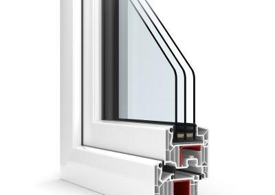 wizualizacja przekroju okna dla Domel