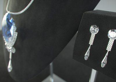 wizualizacja biżuterii z szafirem