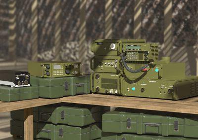 wizualizacja radiostacji wojskowych