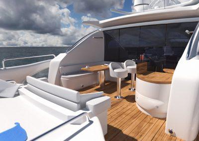 Wizualizacja jachtu