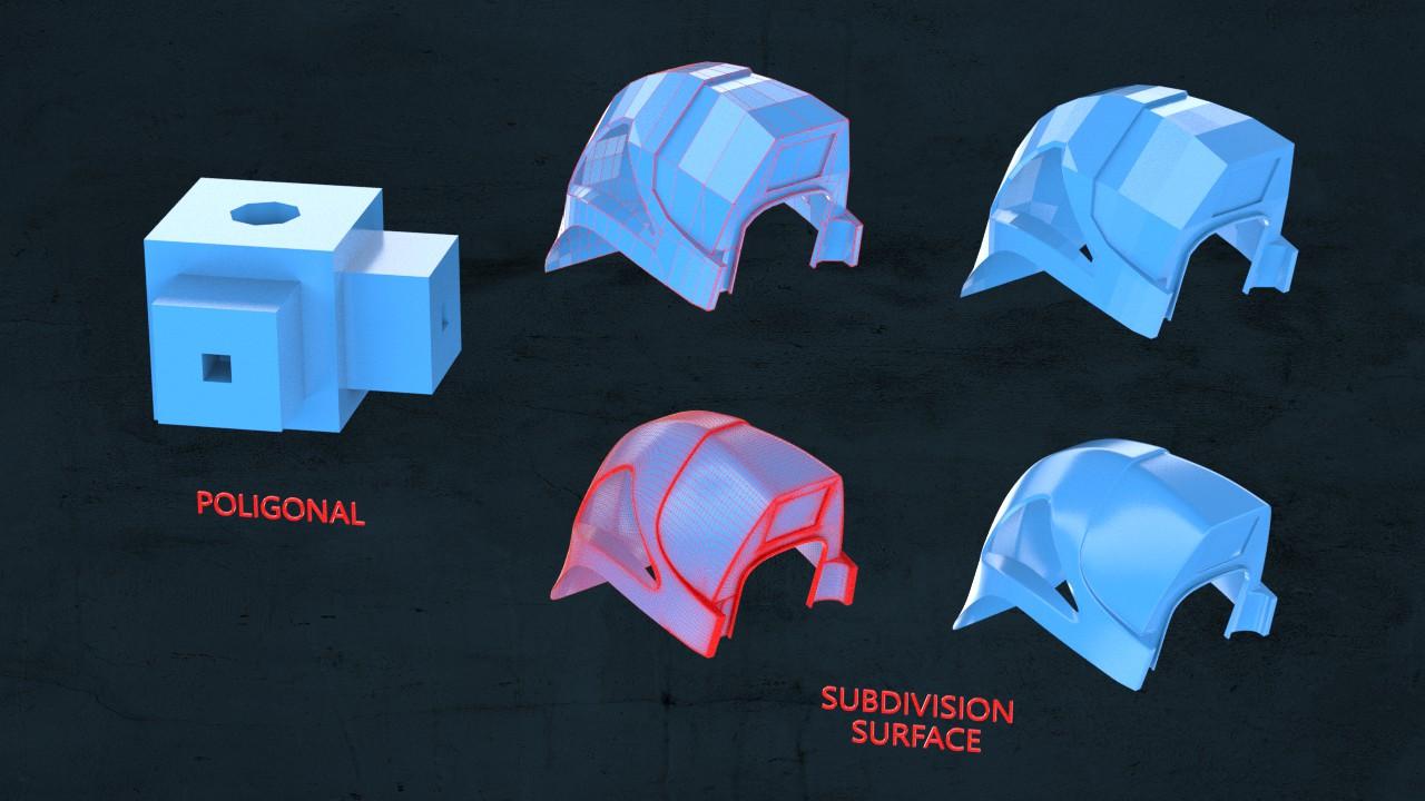 Modelowanie poligonalne oraz Subdivision Surface
